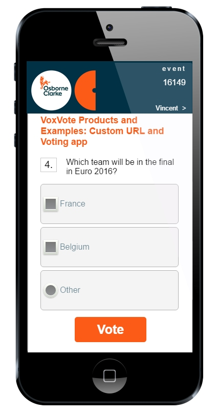 Custom URL and voting app