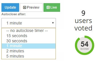 How can I set the AutoClose timer and what is it?