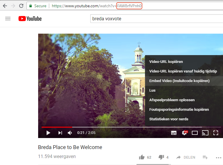 paste the embed command from youtube