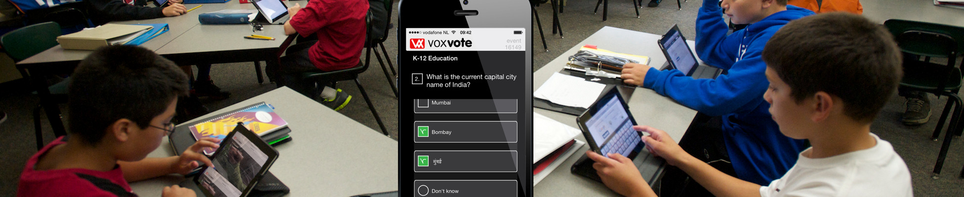 K12 students using VoxVote