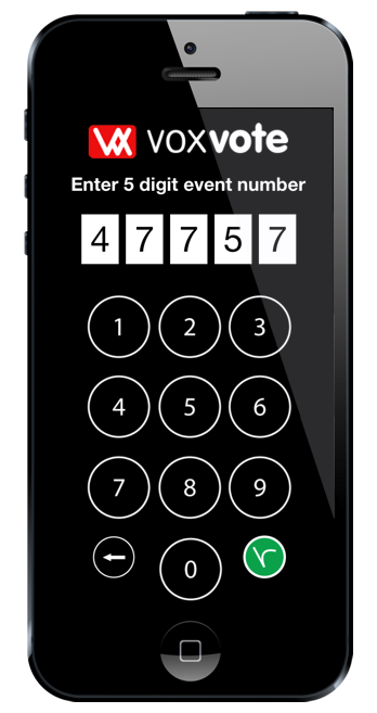 Access an event by PIN code